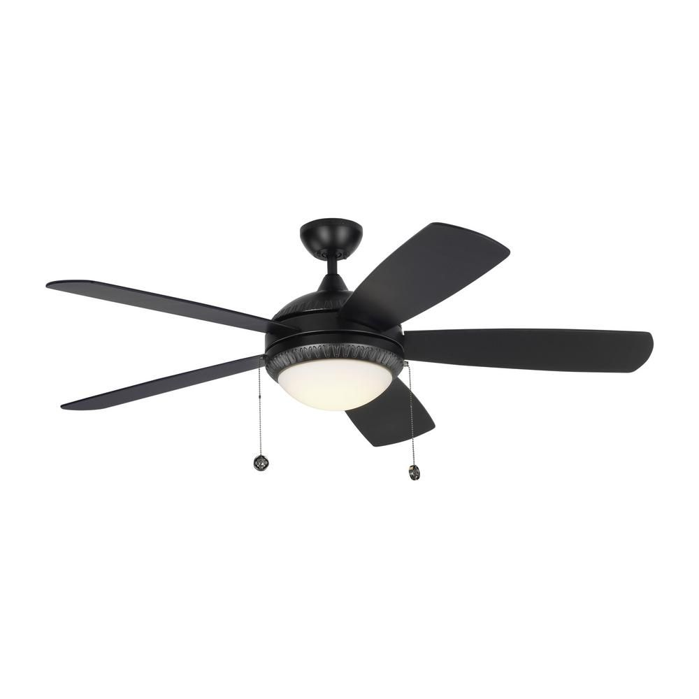 Monte carlo discus ornate in led indoor matte black ceiling fan