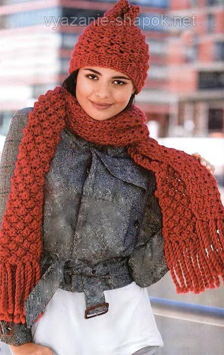 женские шарфы спицами