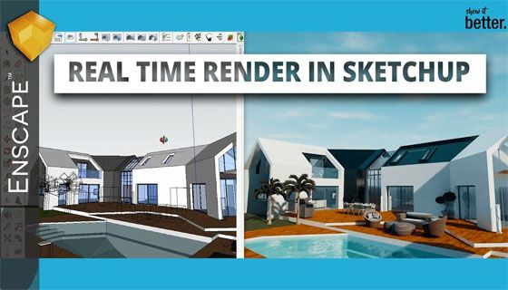 Real-time 3D rendering plugin for Revit and SketchUp delivers by