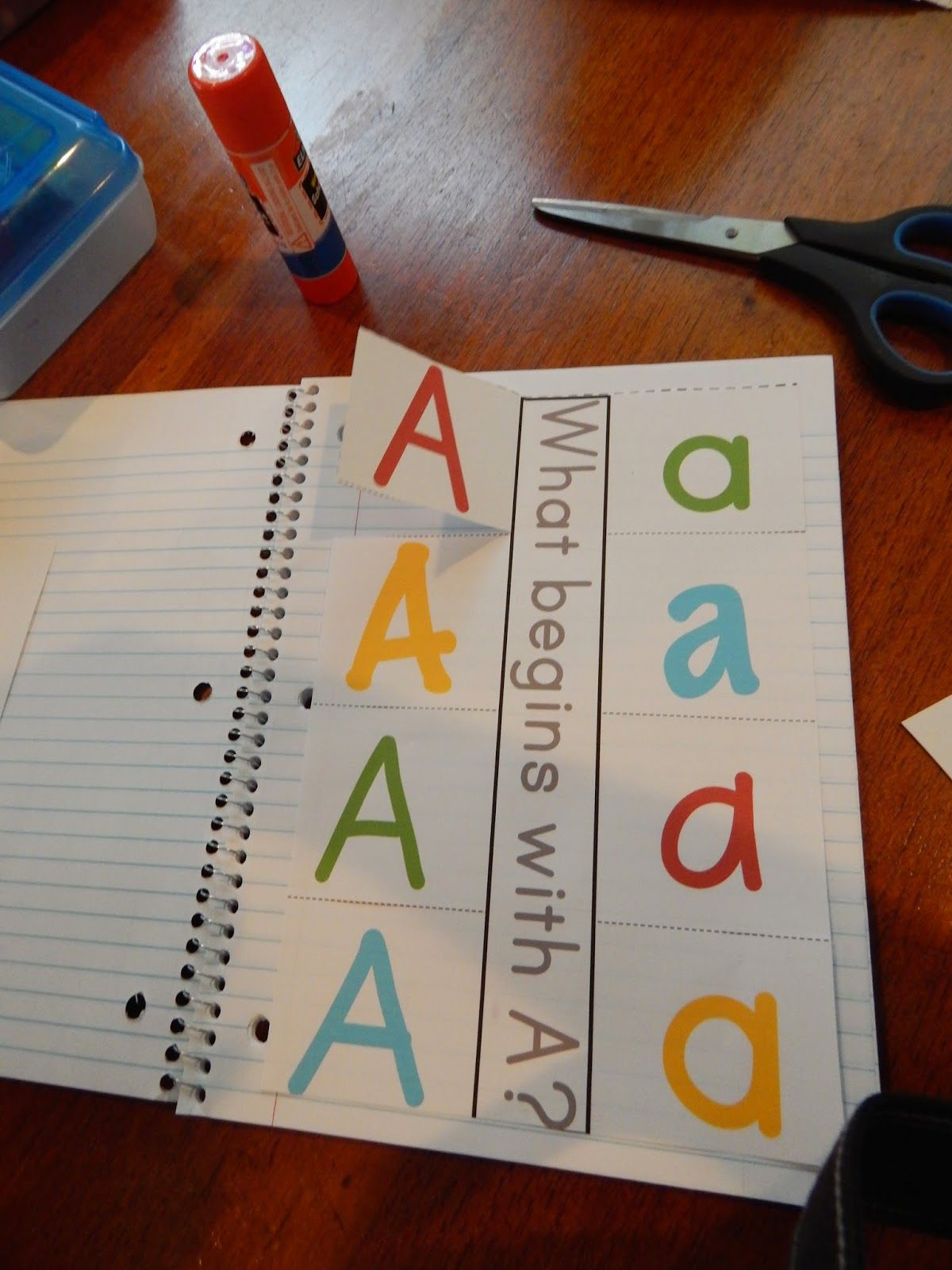 Letter A Interactive Notebook Pages