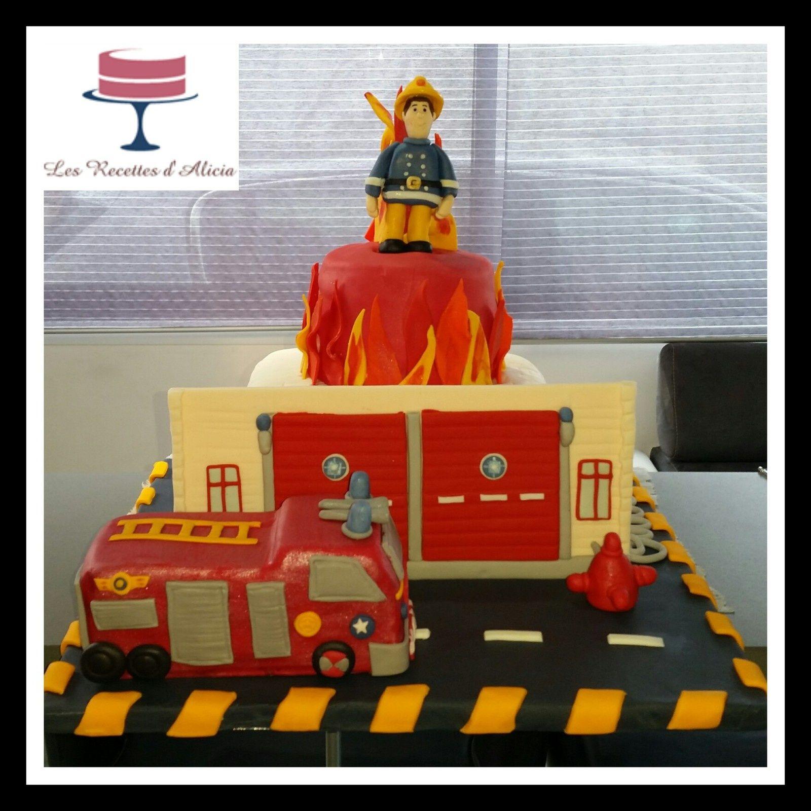 gateau pate a sucre sam le pompier cake design tutoriel recettes