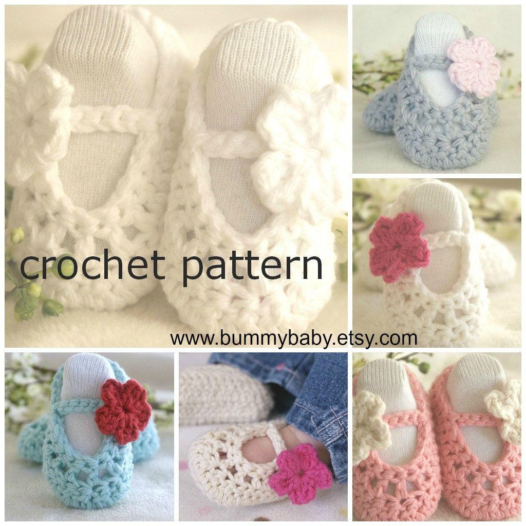Instant Download Crochet Pattern Pdf Crochet Baby Shoes Pattern