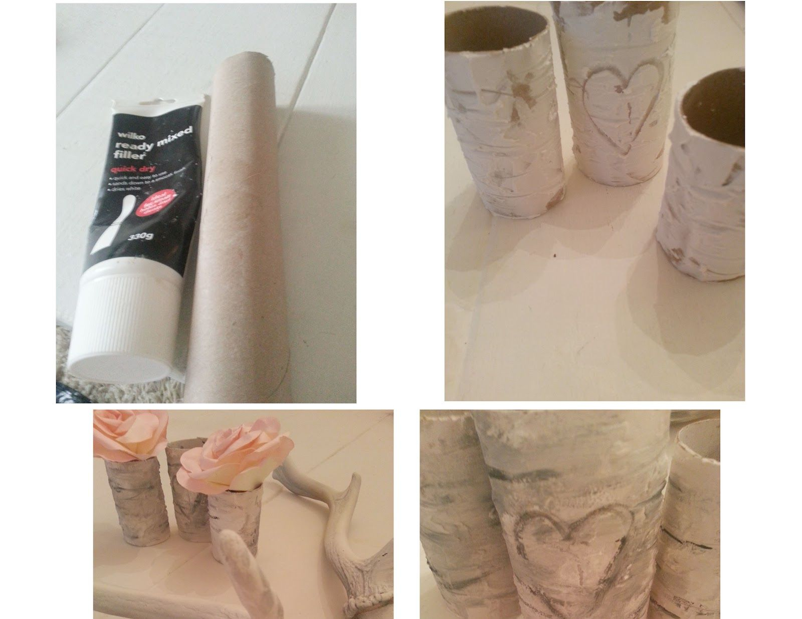 How To Make Faux Birch Bark Using Joint Compound And Paper Towel - Beautiful diy birch bark lamp