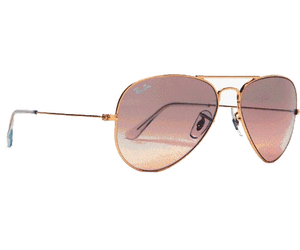 be361b5ea5f286 Ray-Ban Aviator Large Metal RB3025 001 3E (gold rose gold gradient mirror)