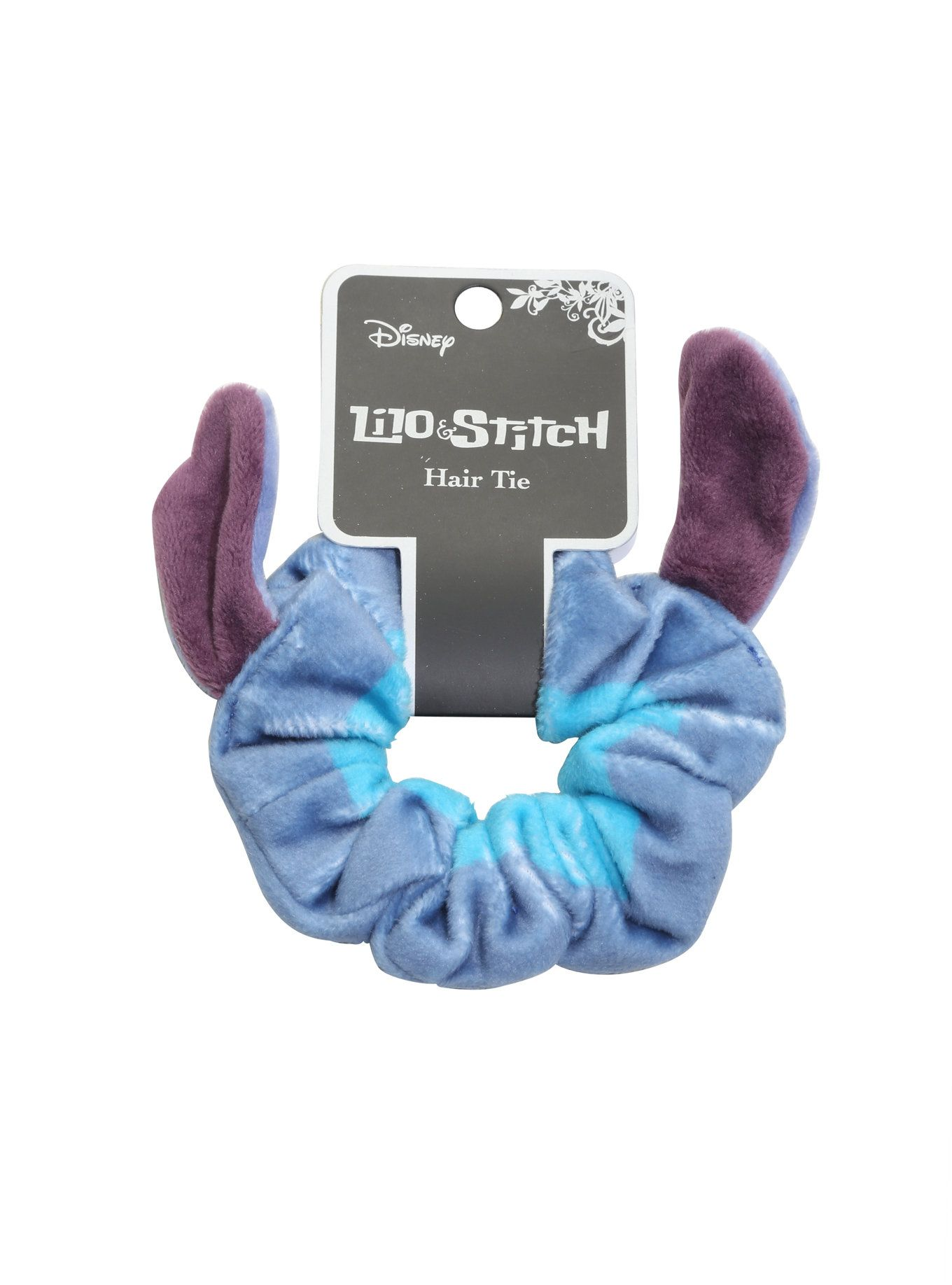 0e34de6747a Loungefly and Disney combined scrunchie nostalgia with Stitch himself to  create a unique  i Lilo  amp  Stitch  i  accessory.