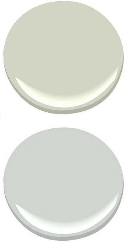 Silvery Moon And Silver Sage Both By Benjamin Moore For Upstairs