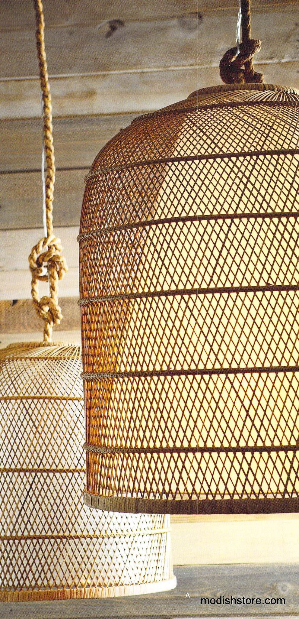 Rattan Pendant Light Living Room