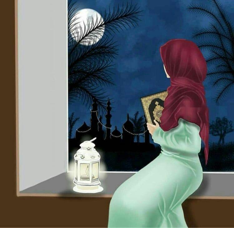 Rida Naz💕 | Hijab cartoon, Cute wallpapers, Islamic art