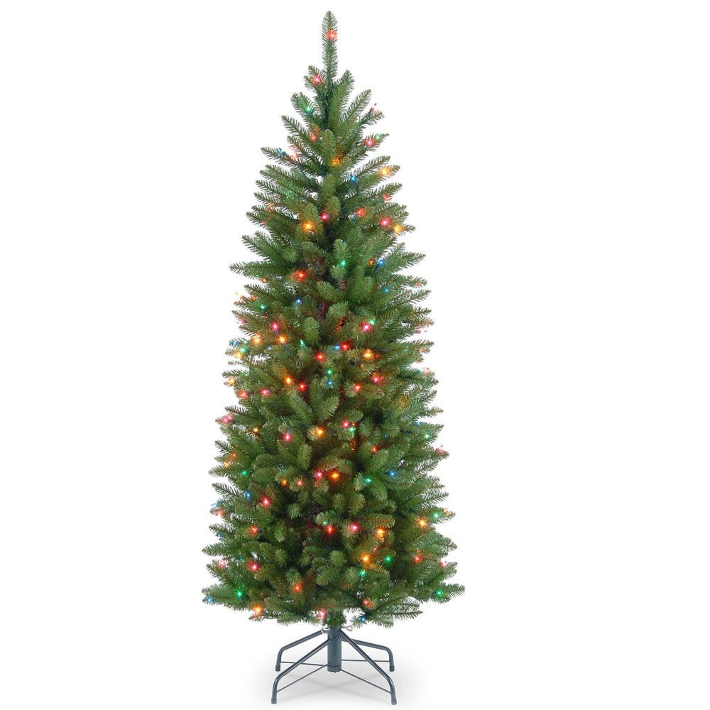 Pre Lit Christmas Tree 4.5\' Tabletop 150 Multicolor Lights 330 Tips ...