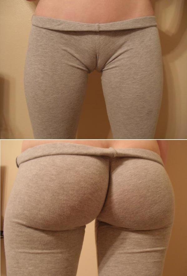 girls taking off yoga pants