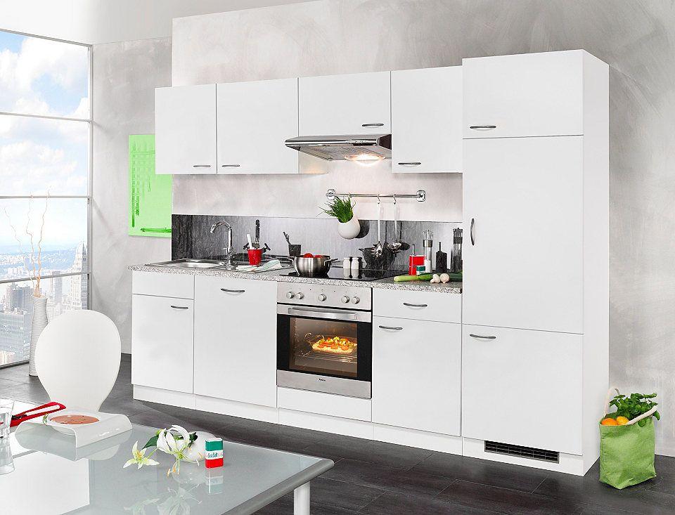 Wiho Küchen Küchenzeile »Valencia«, mit Elektrogeräten, Set 2 280 - küchenblock 270 cm