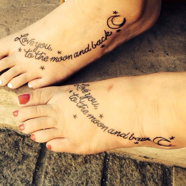 I Love You More Tattoos: 31 Beautifully Mother Daughter Tattoo Ideas Pictures