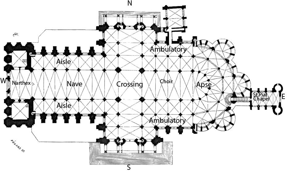 Chartres cathedral floor plan