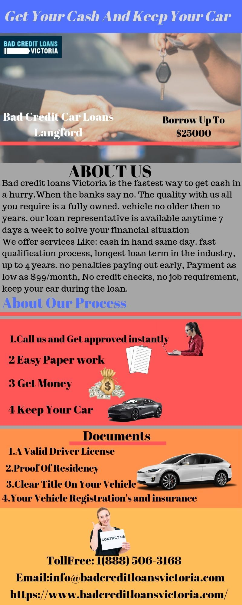 Apply for car title loan in Langford by bad credit loans