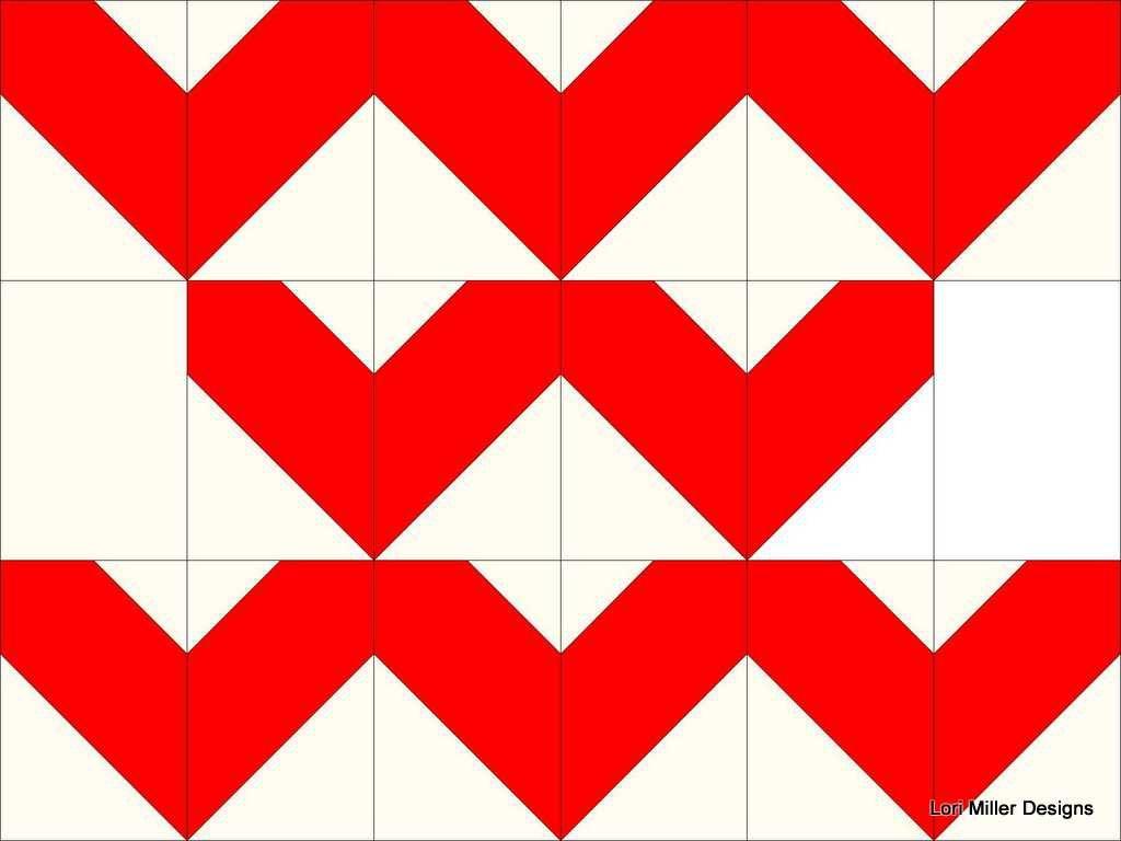 Grandma Town BOM #5 - Sweet Hearts Block  by Lori Miller Designs