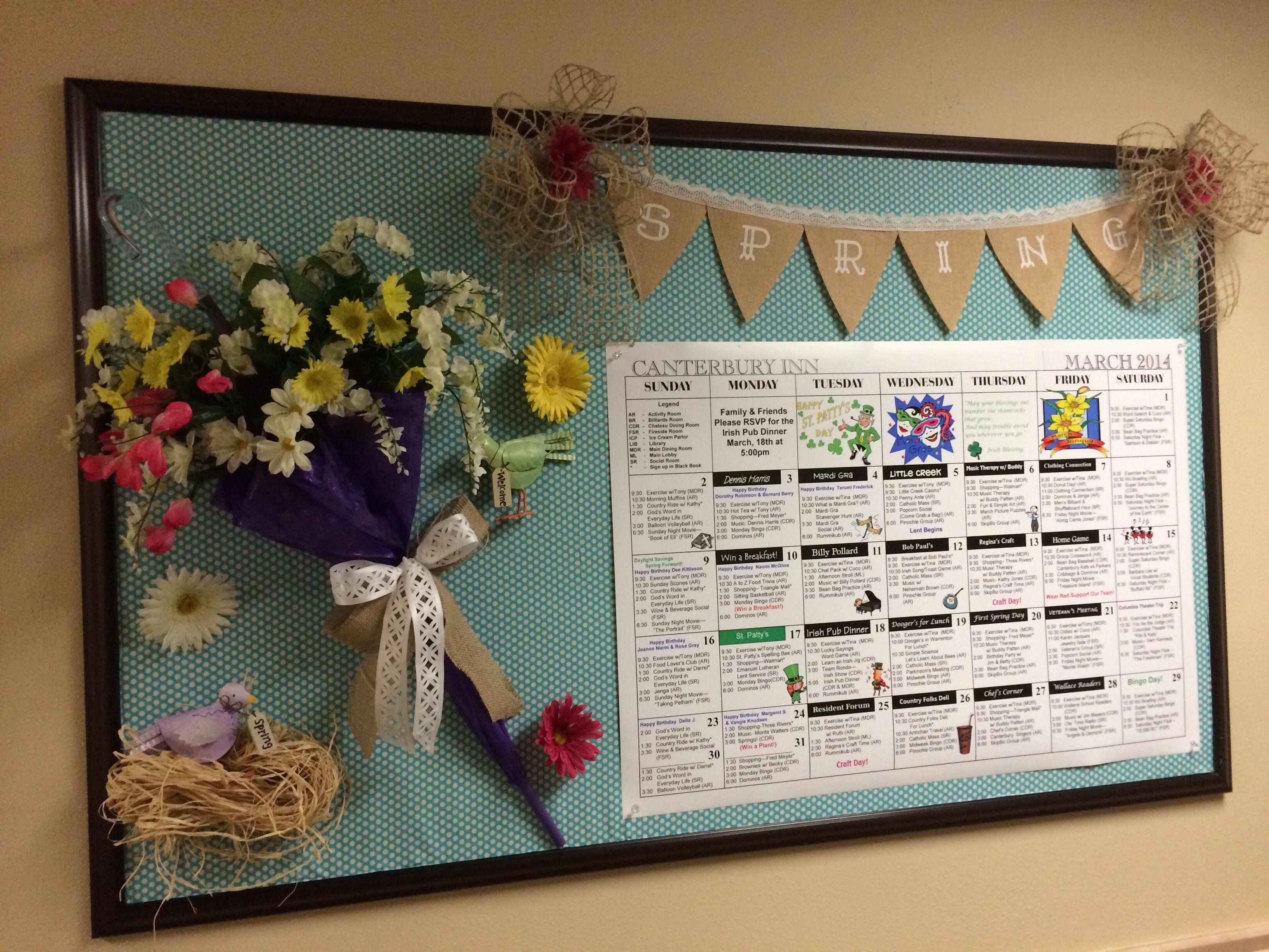 Spring Bulletin Board Nursing Home Activities Nursing Home