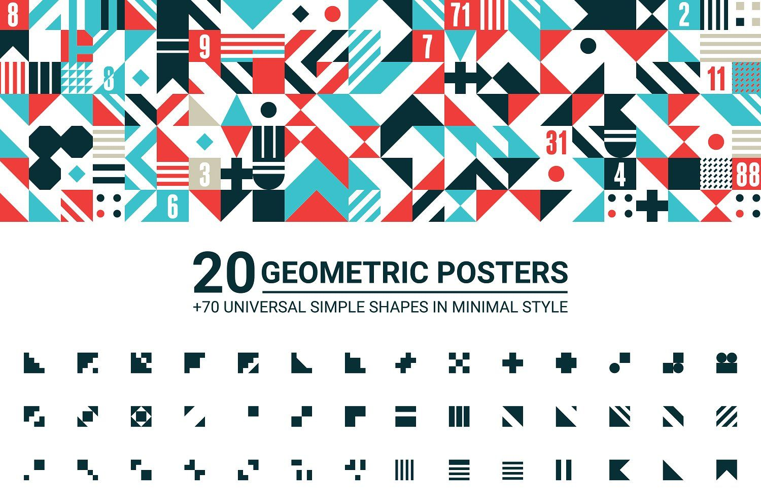 Free Download  Gemotric Posters  With  Universal Simple