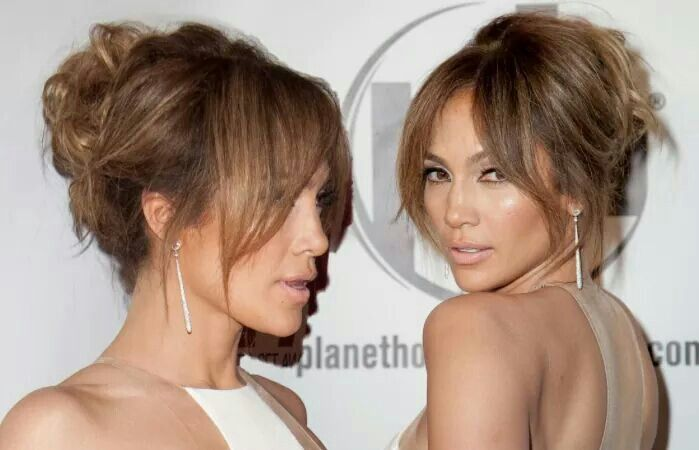 Recogido No Bad Hair Curtain Bangs Jennifer Lopez