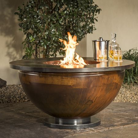 Patina Bowl Gas Fire Pit Table Woodlanddirect Com Outdoor