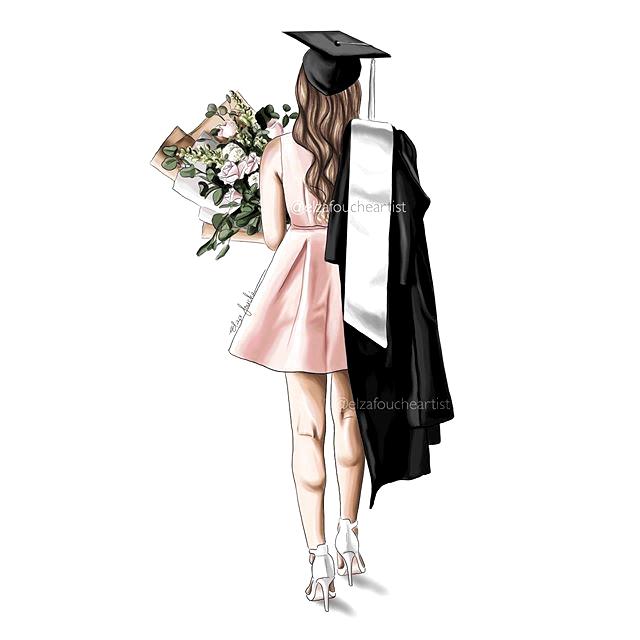 Pin By Lisa On Class Of 2020 Master S Lu Graduation Girl Digital Art Girl Graduation Art