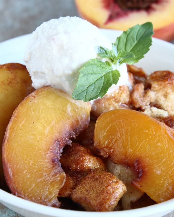 Peach Cobbler Bake This Peach Cobbler Cake Is Where Your Taste Buds Need To Be #peachcobblercheesecake