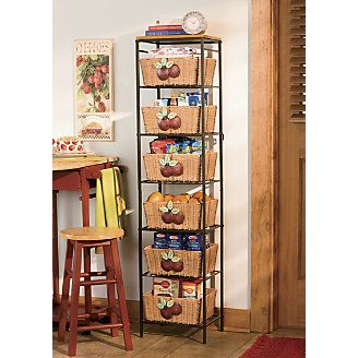 6 Tier Apple Basket Tower Takes A Healthy Bite Out Of Clutter And  Disorganization!