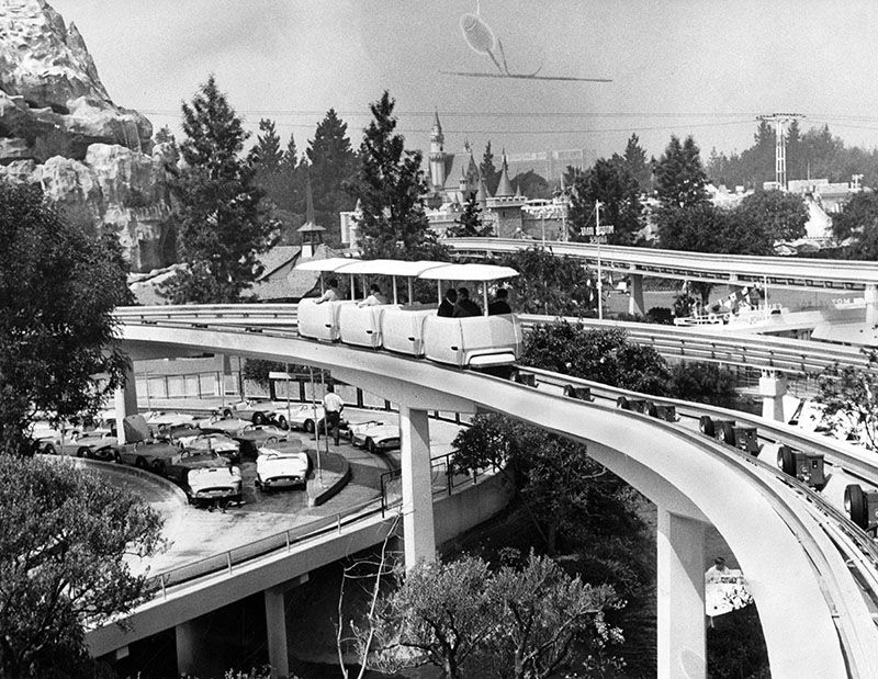 New attraction at Disneyland - the PeopleMover (June 29, 1967)