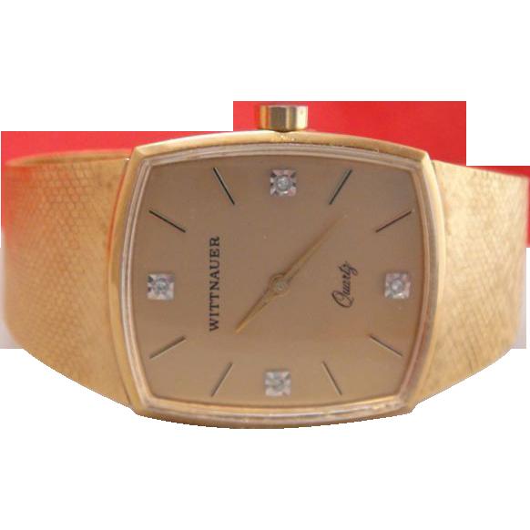 Vintage mens wittnauer quartz diamond dress wrist watch diamond vintage mens wittnauer quartz diamond dress wrist watch sciox Choice Image