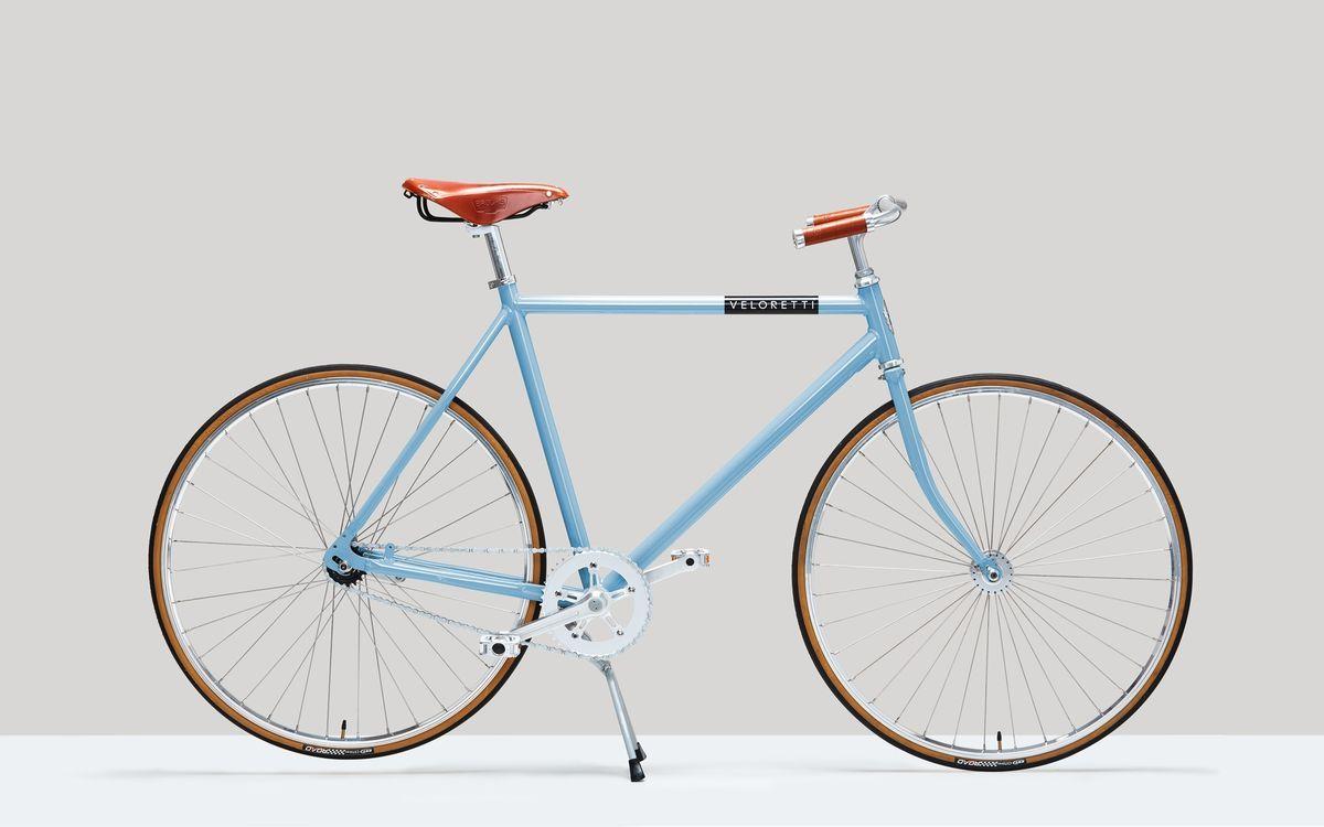 Veloretti Berlin Havana Blue Bicycle City Bicycles Diamond Frame