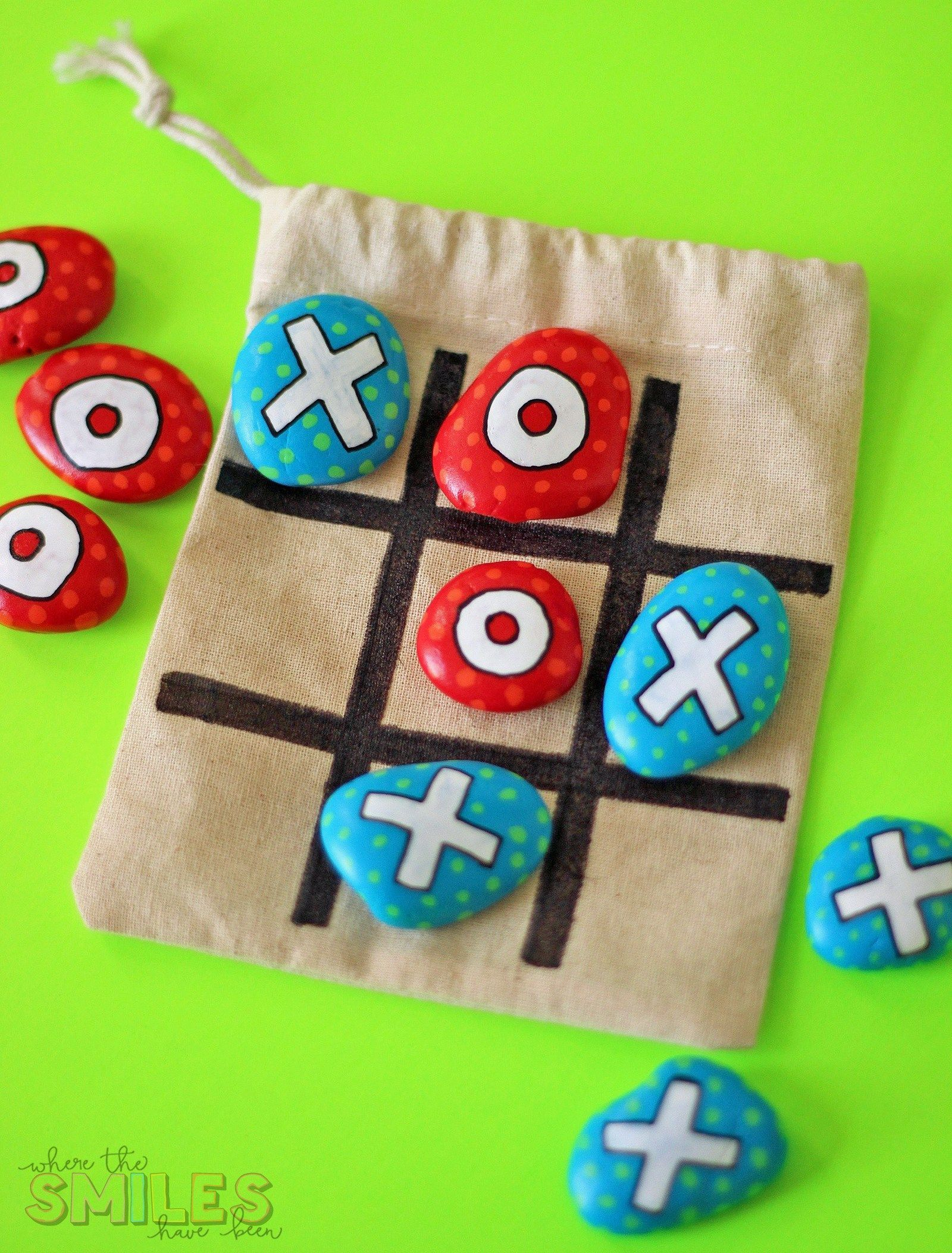 Photo of DIY Painted Rock Tic-Tac-Toe Travel Game for On-The-Go Fun!