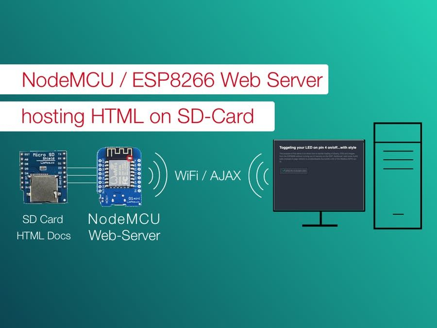 NodeMCU WebServer with SD Card Support | Esp8266 | Domotique