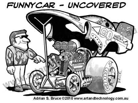 Attractive Cool Hot Rod Coloring Pages. Drag Racing Cartoons | Funny Car Cartoon,Under  The Hood
