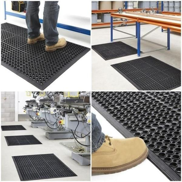 Industrial Large Heavy Duty Rubber Ring Mat Safety Floor Matting Kitchenu2026