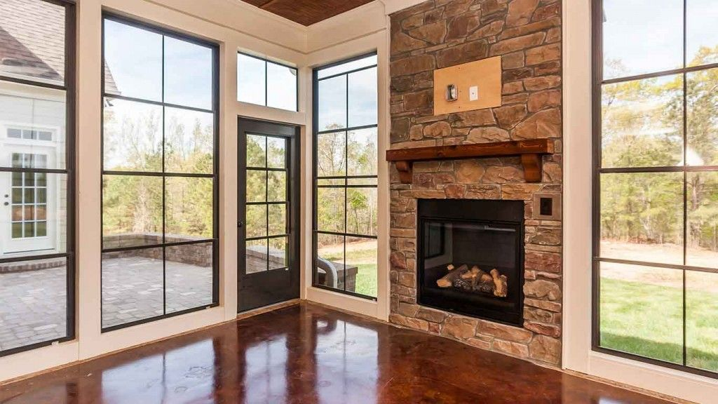Residences Fireplace built ins, New home designs, Custom