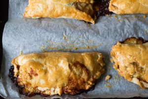 Smoked Cheddar and Pickled Onion Turnovers. So delicious it's hard to believe they can be made from leftovers!