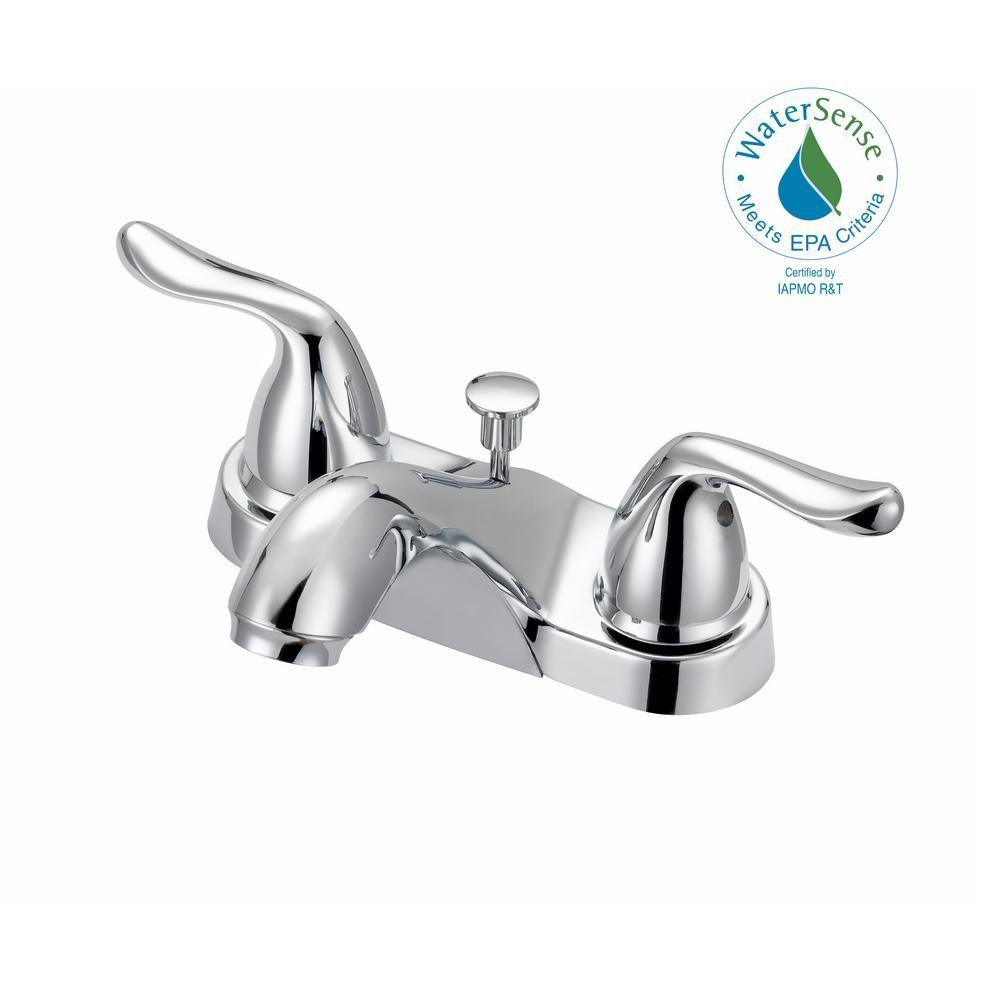 Glacier Bay Constructor 4 In Centerset 2 Handle Bathroom Faucet