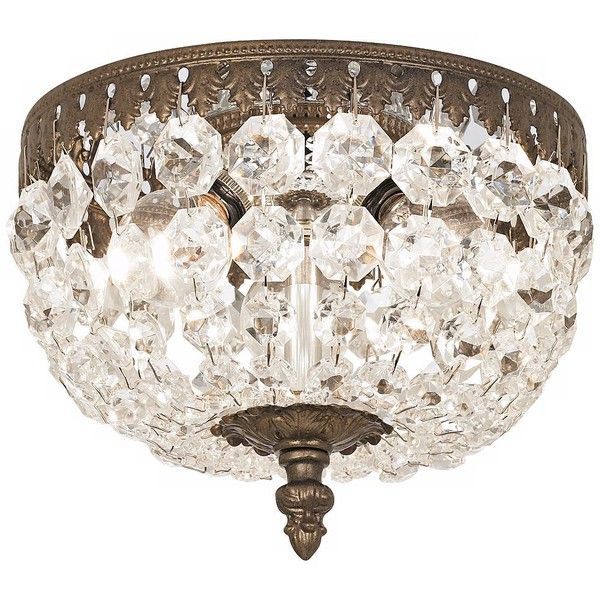 Schonbek Rialto Collection 8 Wide Crystal Ceiling Light 526 Liked On Polyvore