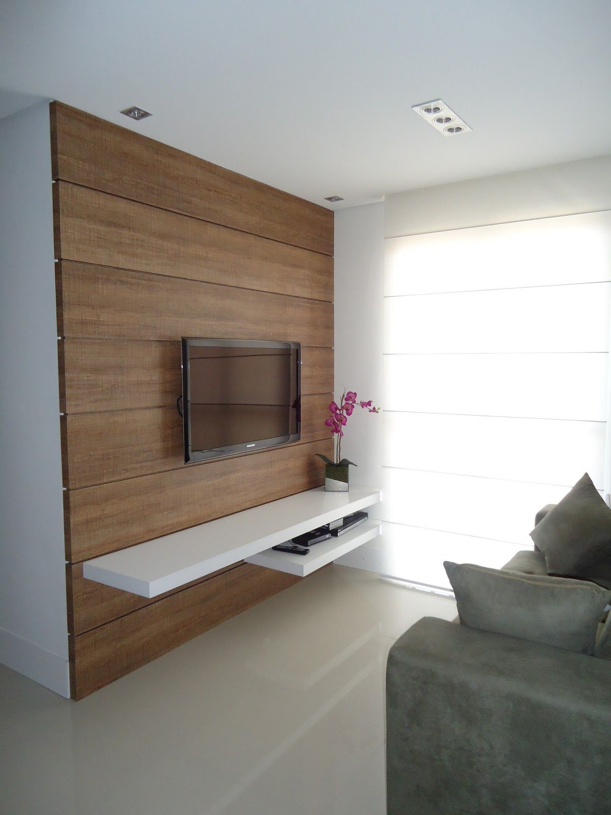 Image Result For Painel De Tv Com Rack Rustico Tv Pinterest  -> Sala De Tv Com Moveis Rusticos