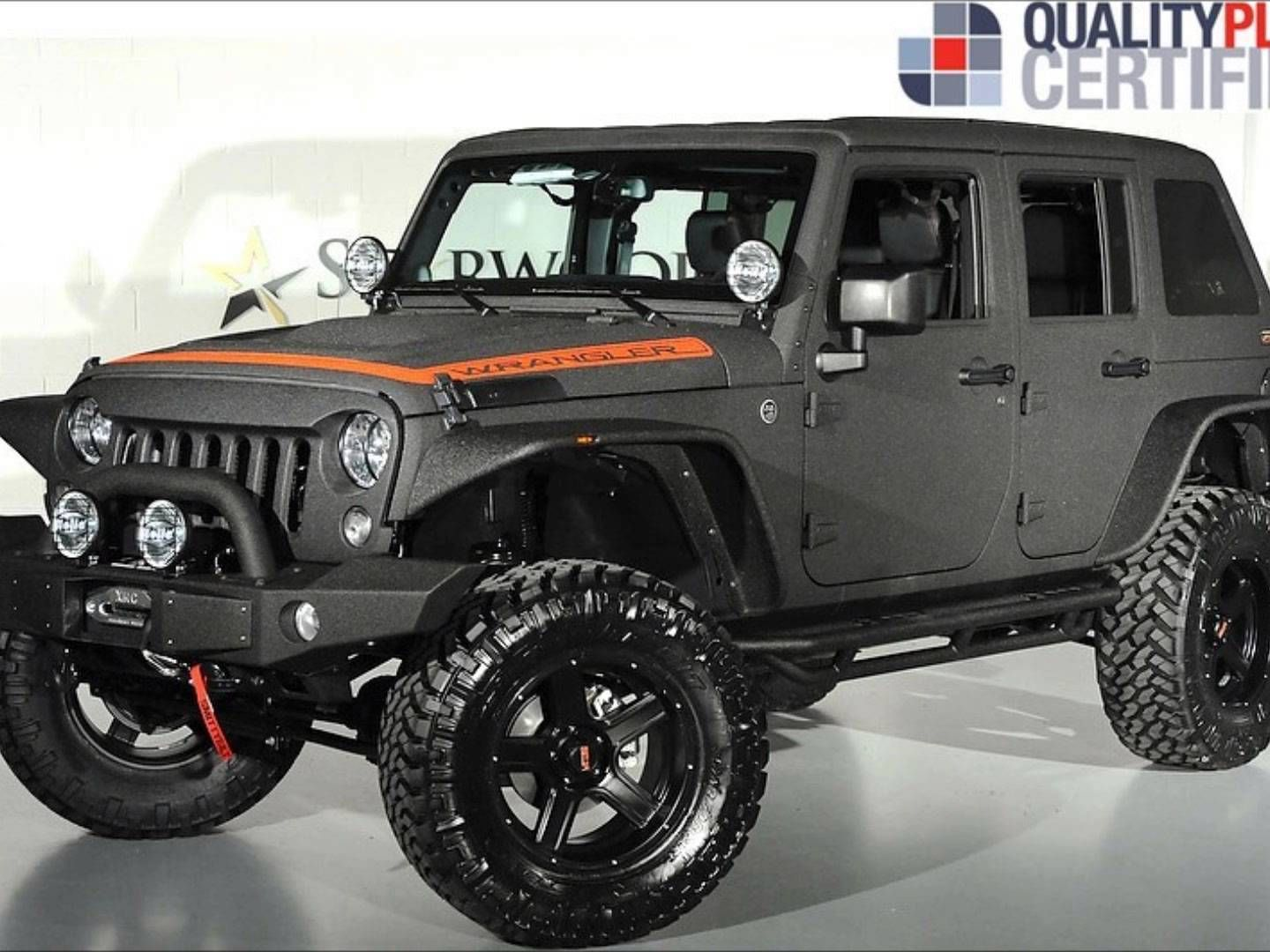 Lifted 2014 jeep wrangler unlimited kevlar coated custom leather