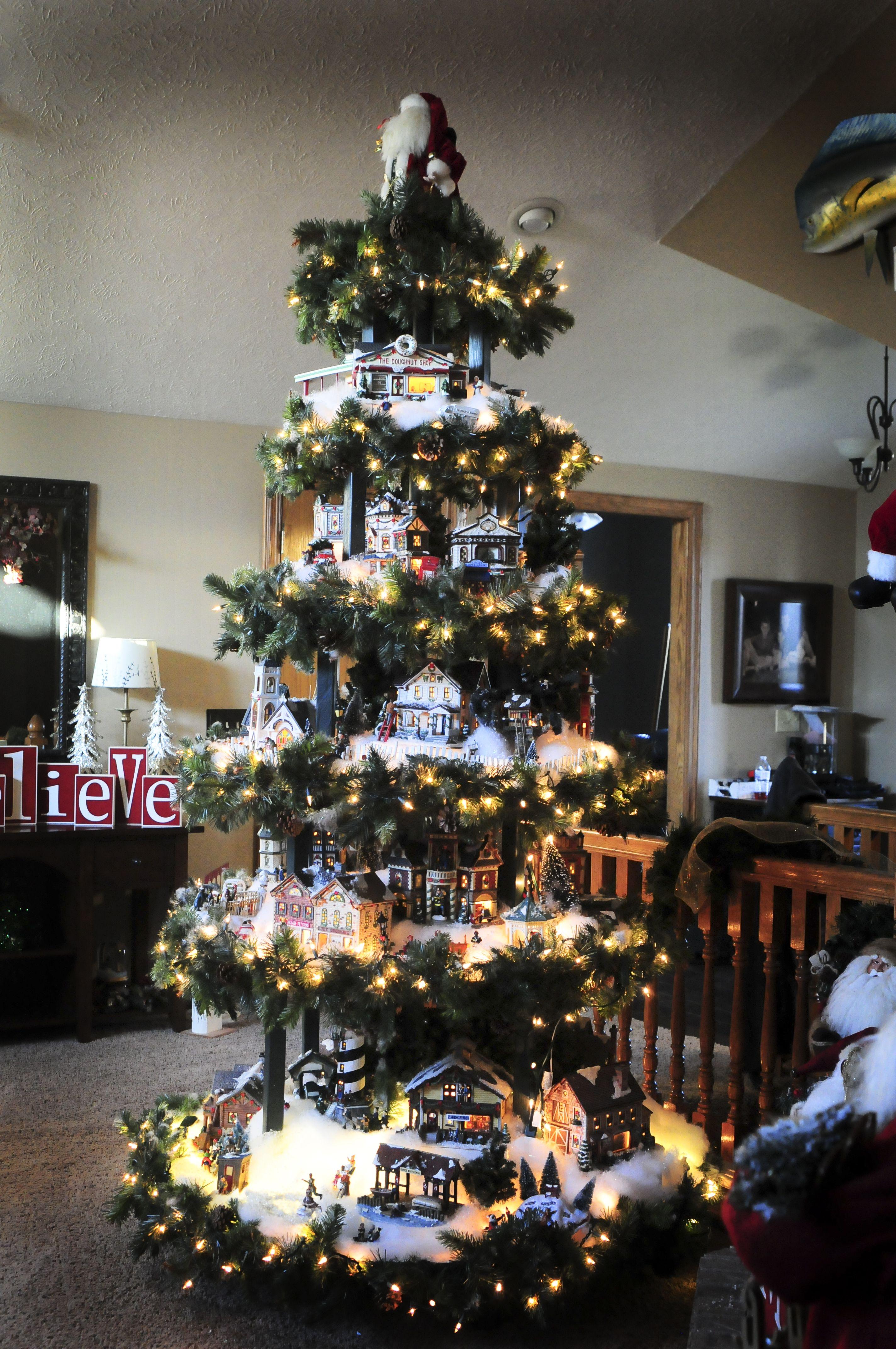 Christmas Village Base Legs 4 8 Blocks To Stand Tree