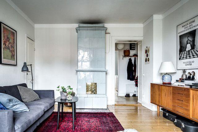 Mein skandinavisches Zuhause Eine schöne schwedische Küche mit - kuche blaue wande