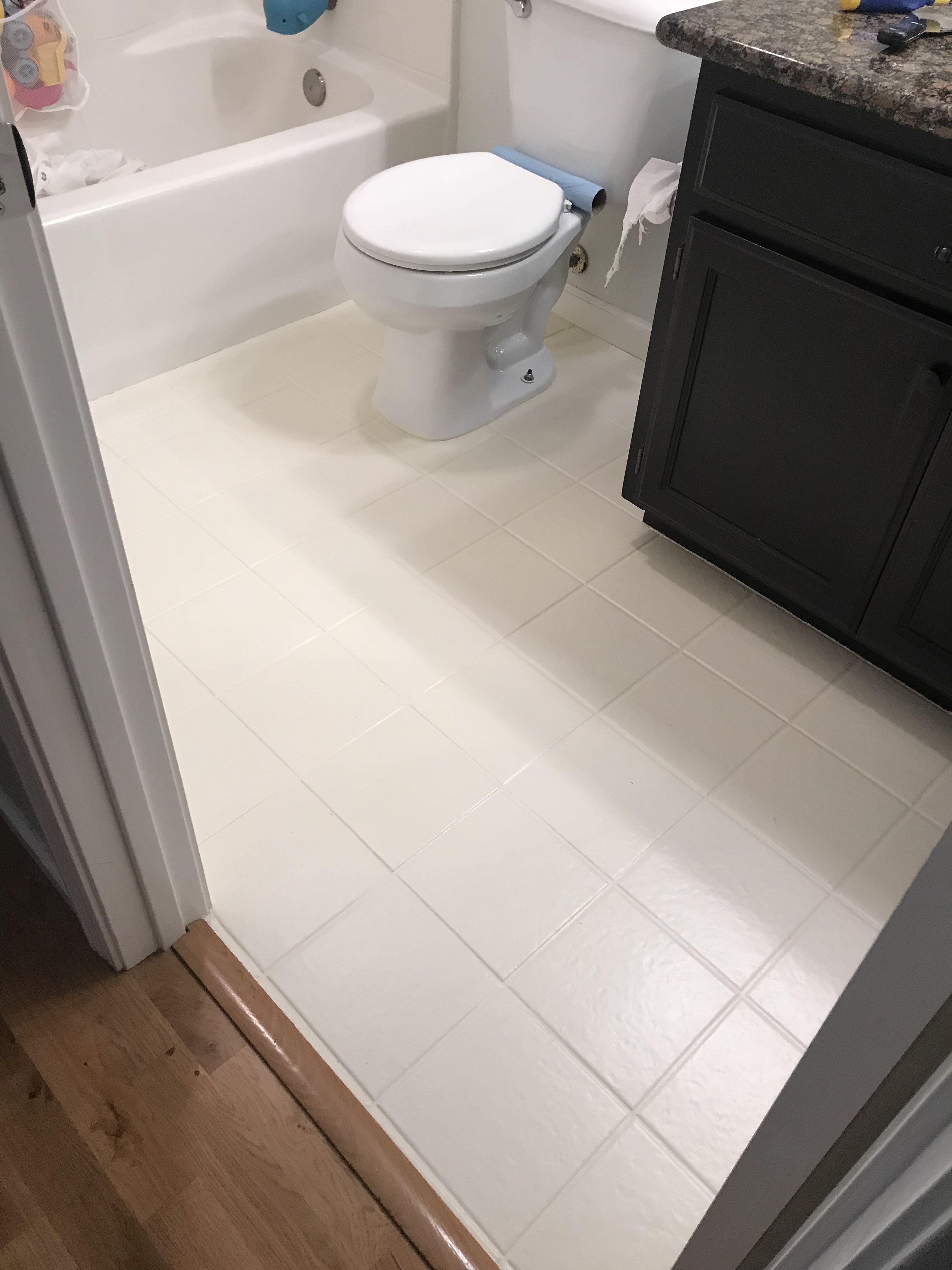 diy chalk painted tile floors annie