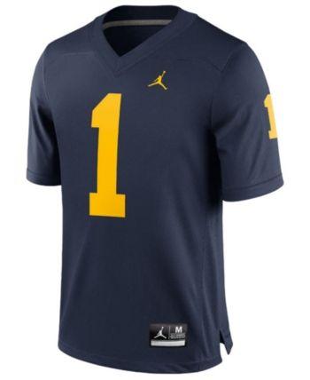 5c9536ccef8 Nike Men's Michigan Wolverines Replica Football Game Jersey - Blue XL