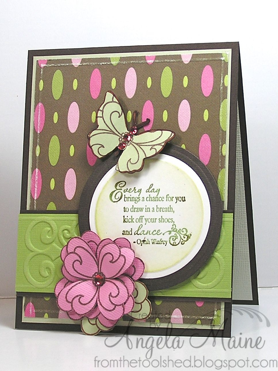 Card by Angela Maine using Verve Stamps.