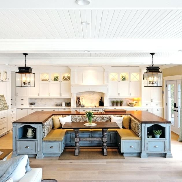 u shape kitchen island with seating home built in seating house on u kitchen with island id=95604