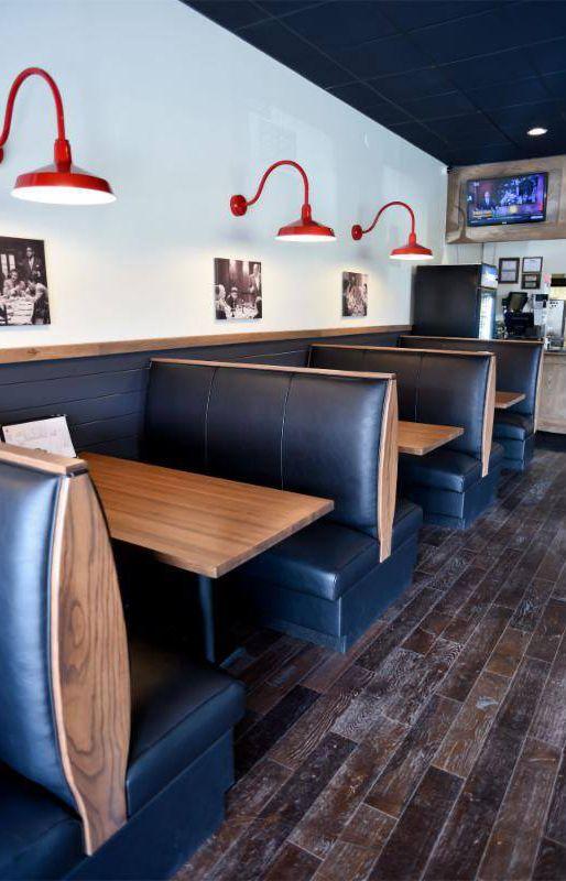 E D Pizza Booths Restaurant Interior Design Restaurant Furniture Restaurant Design