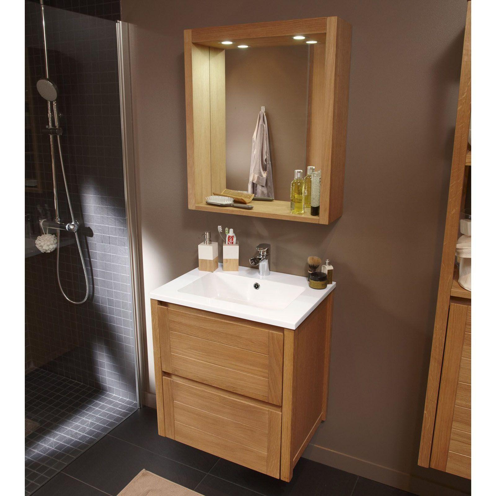 leroy merlin meuble de salle de bains fjord marron meubles
