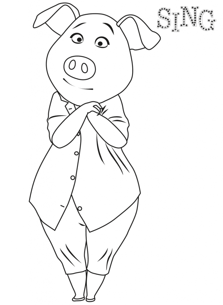 Sing Coloring Pages Best Coloring Pages For Kids Cartoon Coloring Pages Toddler Coloring Book Coloring Pages