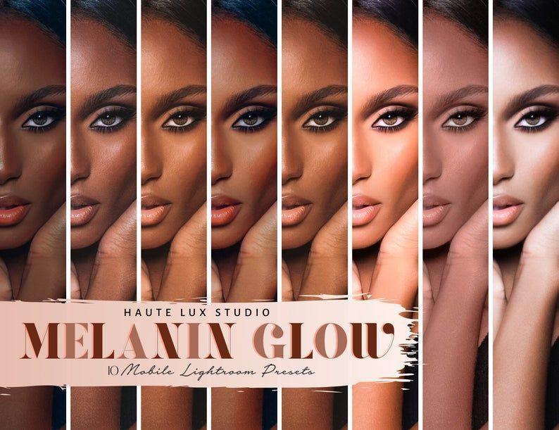 Melanin Presets 10 Lightroom Mobile Presets Dark Skin Preset Brown Skin Preset Black Girl Magic Chocolate Colors For Skin Tone Dark Brown Skin Dark Skin