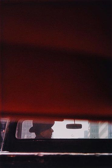 Saul LEITER :: Man in Car, 1950